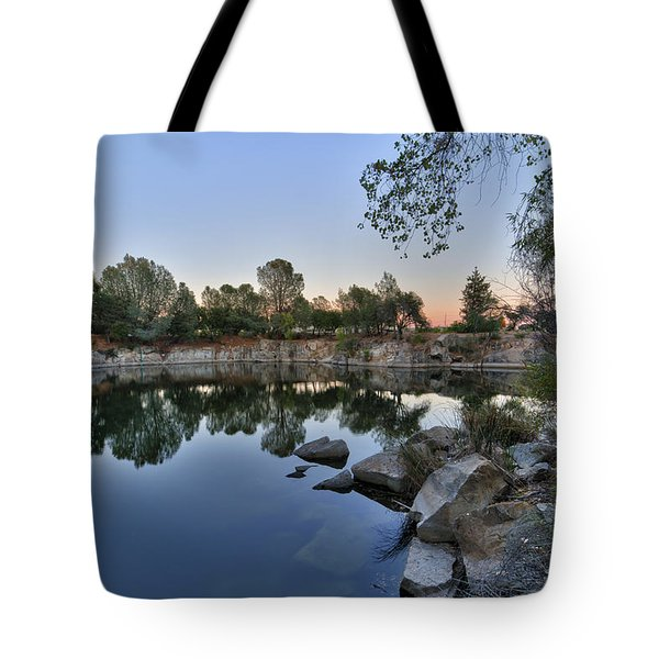 Tote Bag featuring the photograph The Quinn Quarry by Jim Thompson