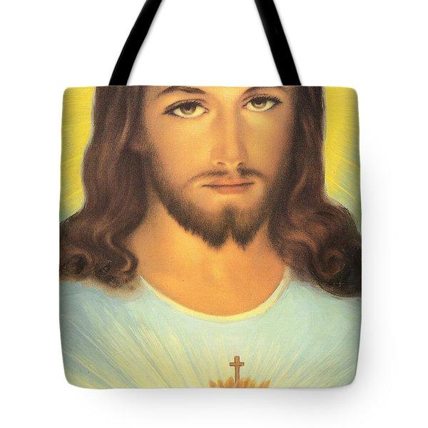 The Sacred Heart Of Jesus Tote Bag