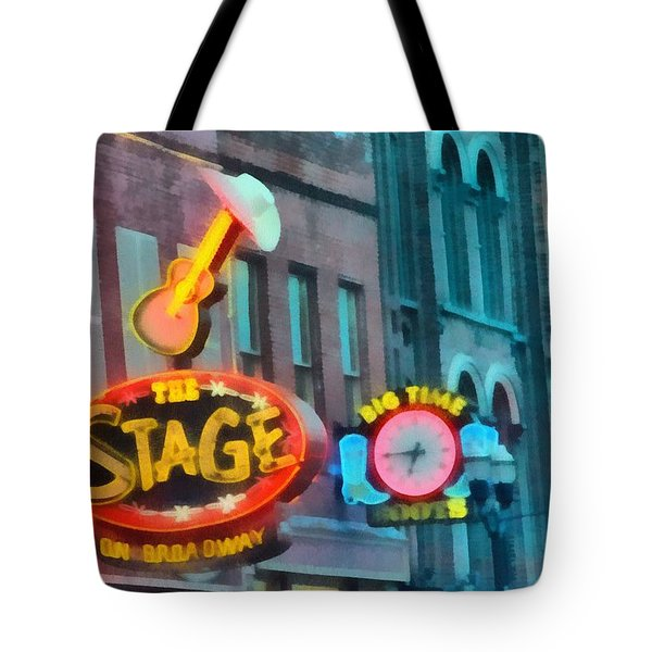 The Stage On Broadway Tote Bag by Dan Sproul