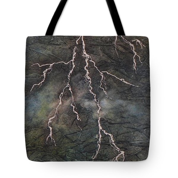 Tote Bag featuring the painting The Storm by Chrisann Ellis