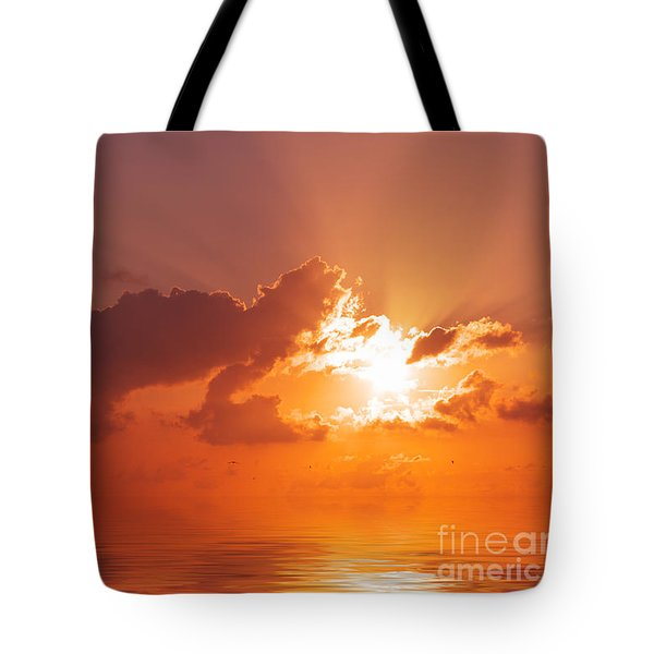 The Sunset Tote Bag by Angela Doelling AD DESIGN Photo and PhotoArt