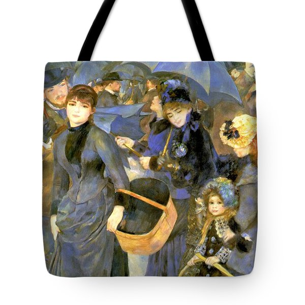 The Umbrellas Tote Bag by Pierre Auguste Renoir