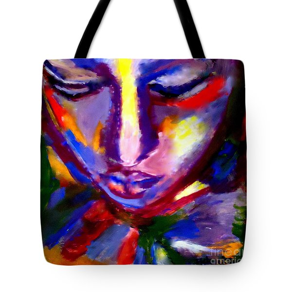 Tote Bag featuring the painting The Universe And Me by Helena Wierzbicki