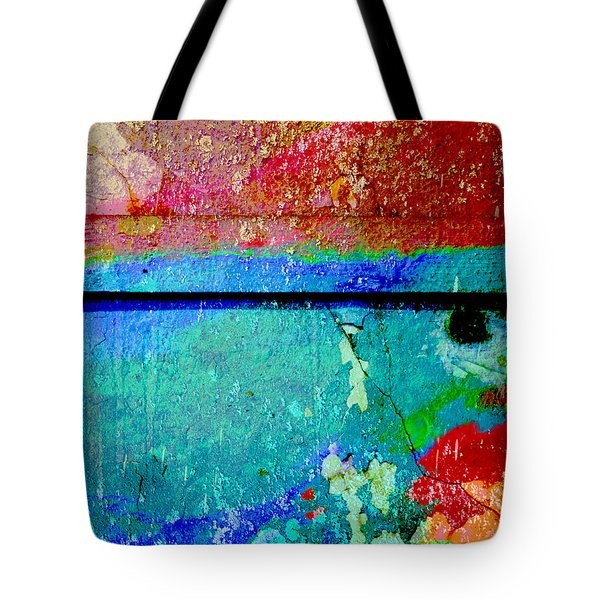The Wall Abstract Photograph Tote Bag