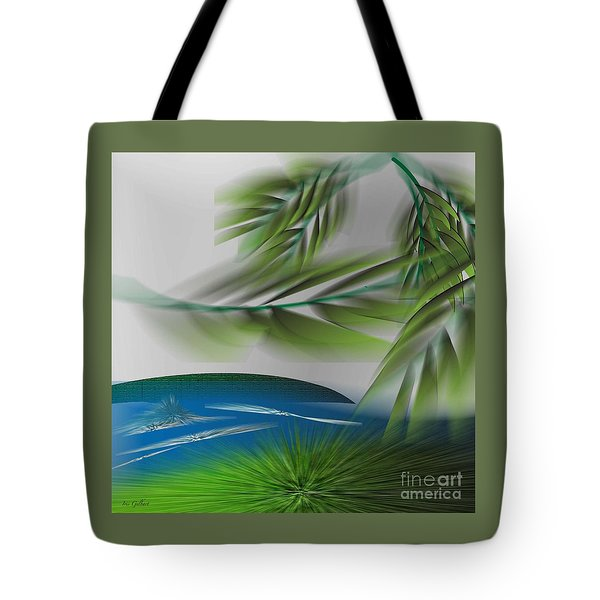 Tote Bag featuring the digital art The Wind She Blows by Iris Gelbart