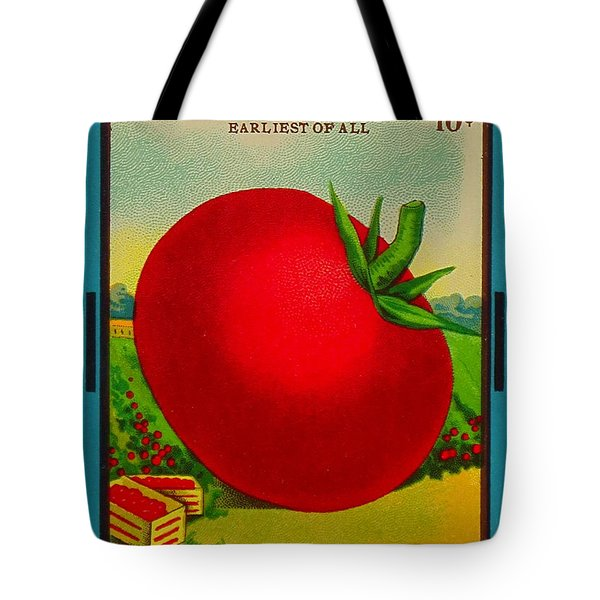 Tomato Seed Package. Antique. 100 Years Old Tote Bag