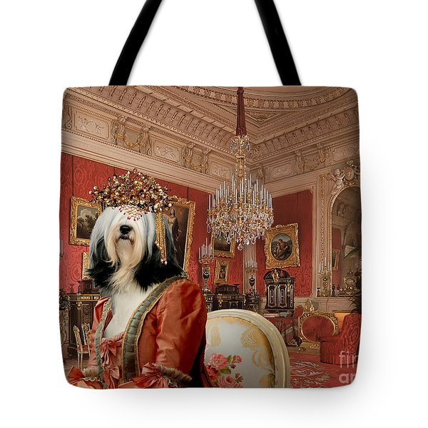 Tibetan Terrier Art Canvas Print Tote Bag