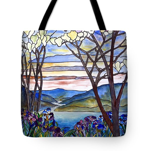 Stained Glass Tiffany Frank Memorial Window Tote Bag by Donna Walsh
