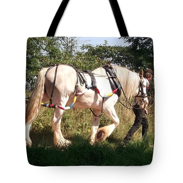 Tiverton Barge Horse Tote Bag by John Williams
