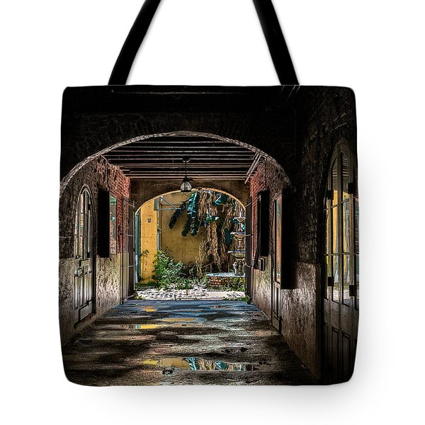 To The Courtyard Tote Bag by Christopher Holmes