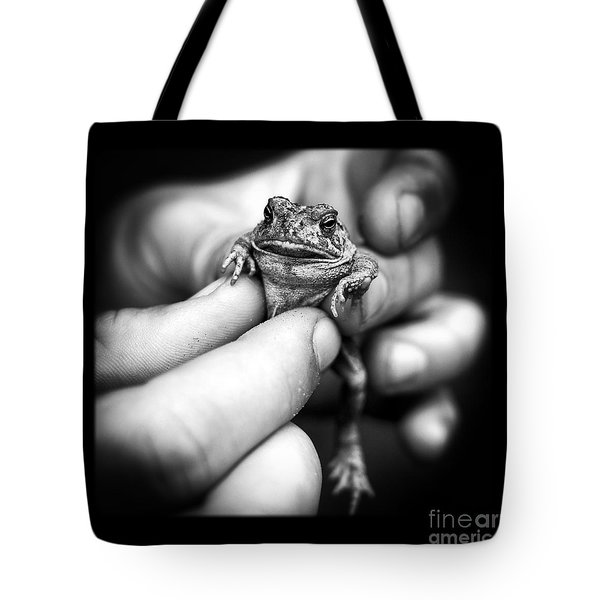 Toad In Hand Tote Bag by Edward Fielding