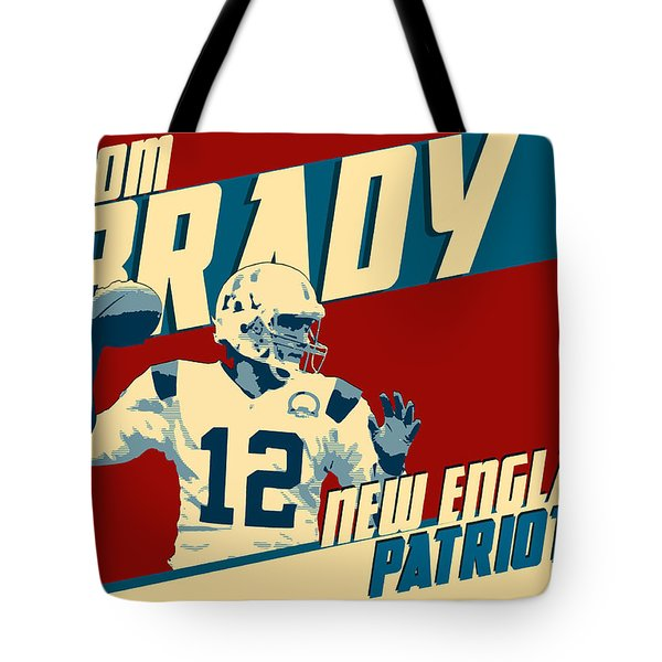 Tom Brady Tote Bag by Taylan Apukovska