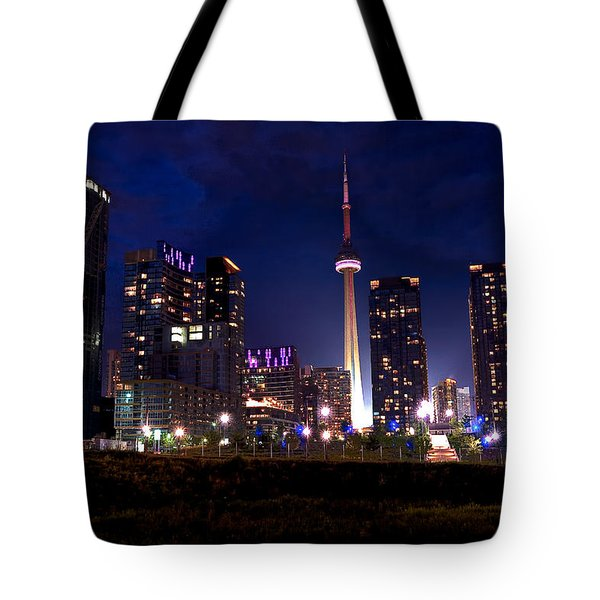 Toronto By Night Tote Bag