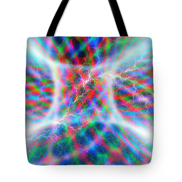 Torus Abstract Tote Bag by Carol and Mike Werner