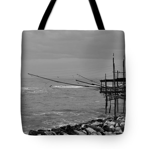 Trabocco On The Coast Of Italy  Tote Bag