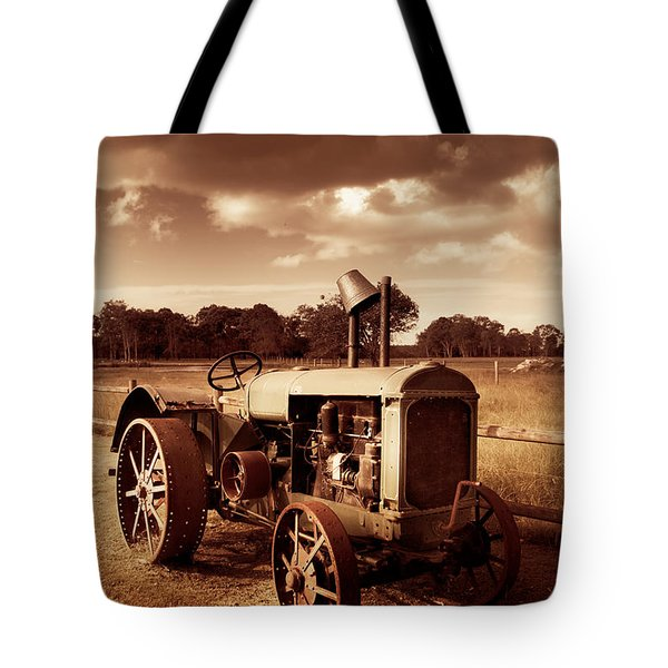 Tractor From Yesteryear Tote Bag