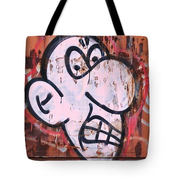 Train Art Cartoon Face Tote Bag