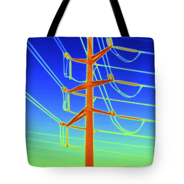 Transmission Tower Thermogram Tote Bag