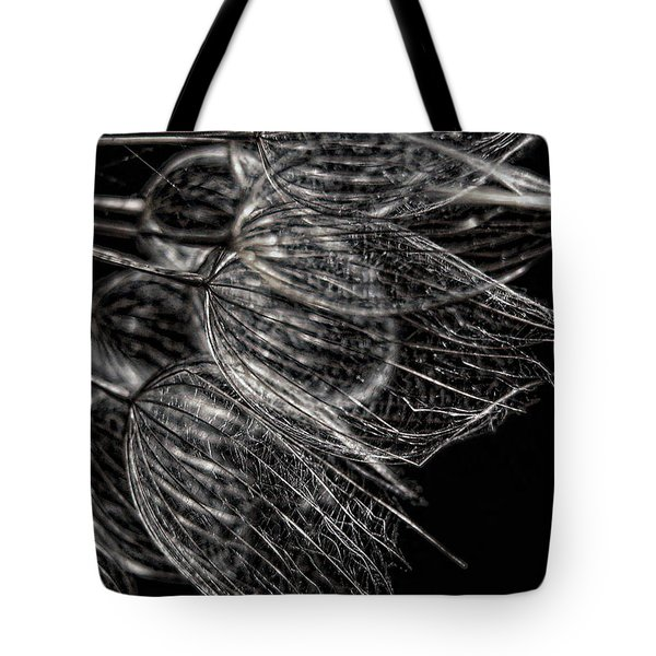 Tote Bag featuring the photograph Silver Flowers by Dale Kauzlaric