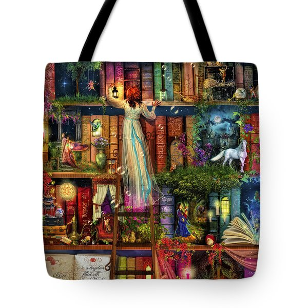 Treasure Hunt Book Shelf Tote Bag by Aimee Stewart