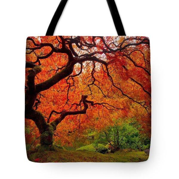 Tree Fire Tote Bag