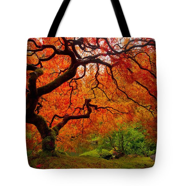 Tree Fire Tote Bag