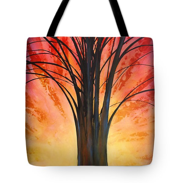 'tree Of Life' Tote Bag by Michael Lang