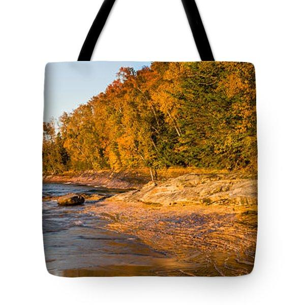 Trees On The Beach, Miners Beach Tote Bag