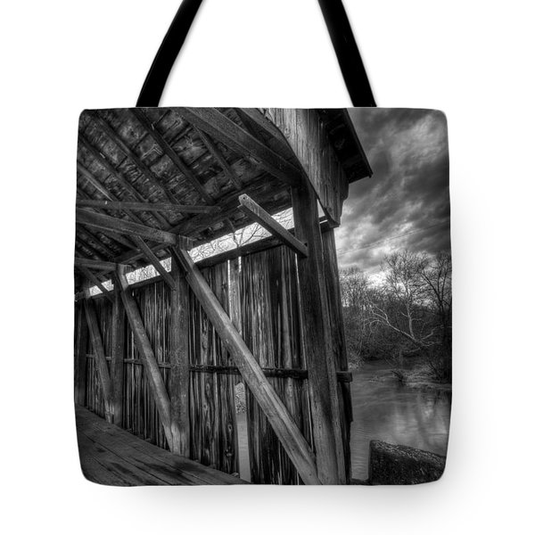 Trinity Road Covered Bridge Tote Bag