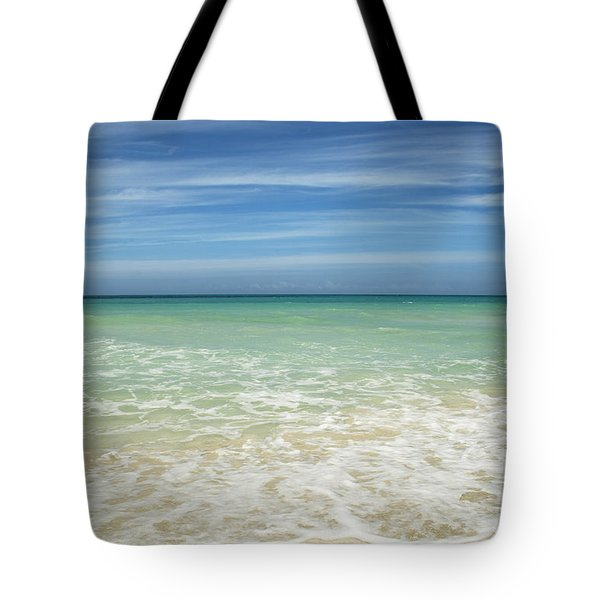 Tote Bag featuring the photograph Tropical Ocean Beach by Charmian Vistaunet
