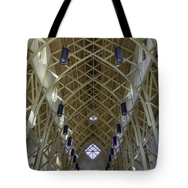 Trussed Arches Of Uf Chapel Tote Bag