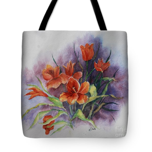 Tulips Tote Bag by Janet Felts