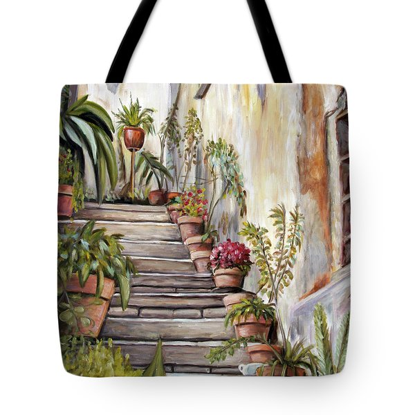 Tuscan Steps Tote Bag
