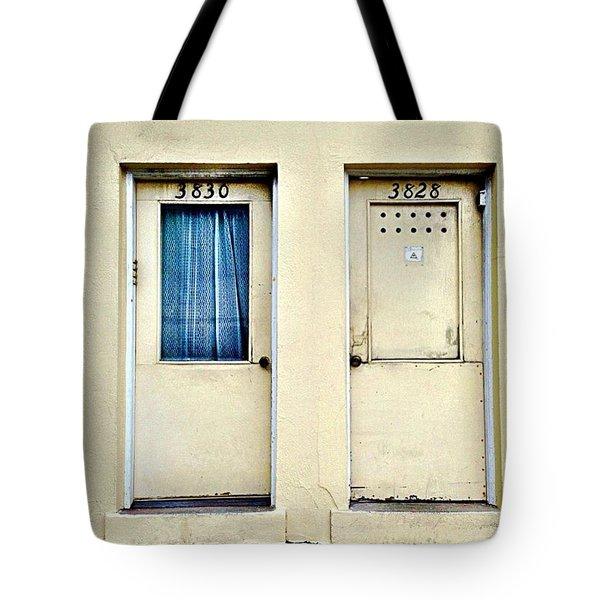 Two Doors Tote Bag