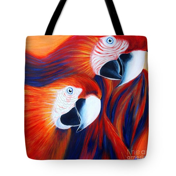 Two Parrots. Inspirations Collection. Tote Bag by Oksana Semenchenko
