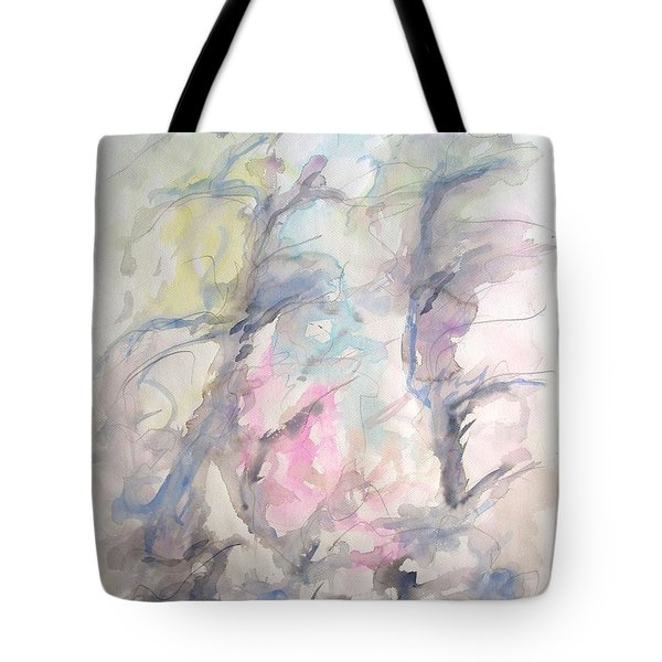 Two Trees In The Wind Tote Bag