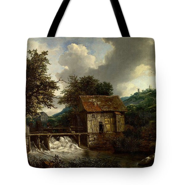 Two Watermills And An Open Sluice At Singraven Tote Bag