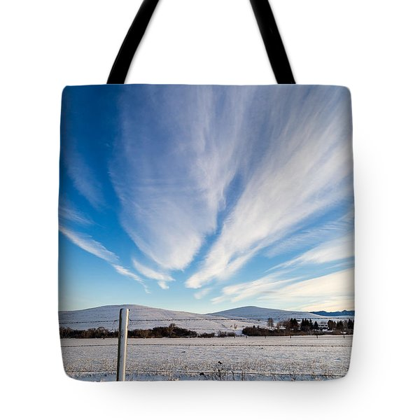 Under Wyoming Skies Tote Bag