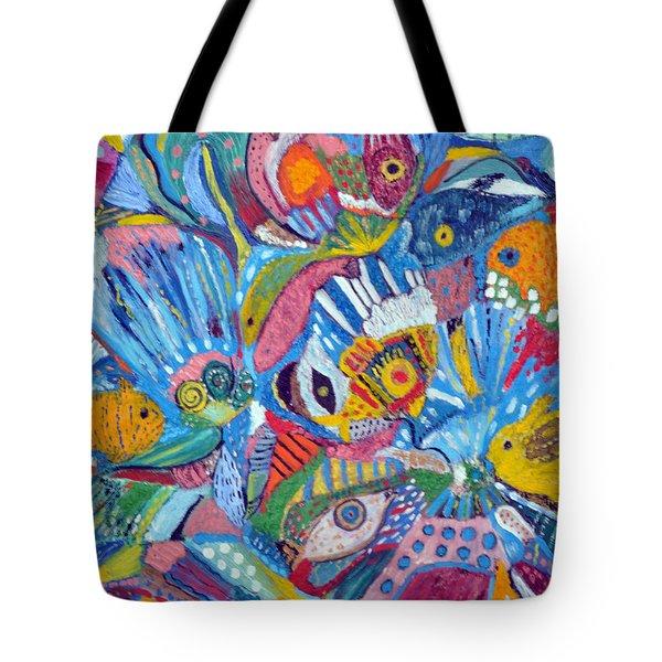 Underwater Explosion Tote Bag by Lynn Husemann