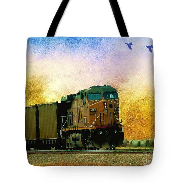 Union Pacific Coal Train Tote Bag