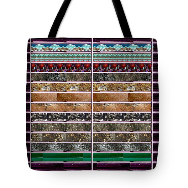 Unique Abstracts Using Multiple Rareearth Stones Crystals Textures And Patterns Tote Bag