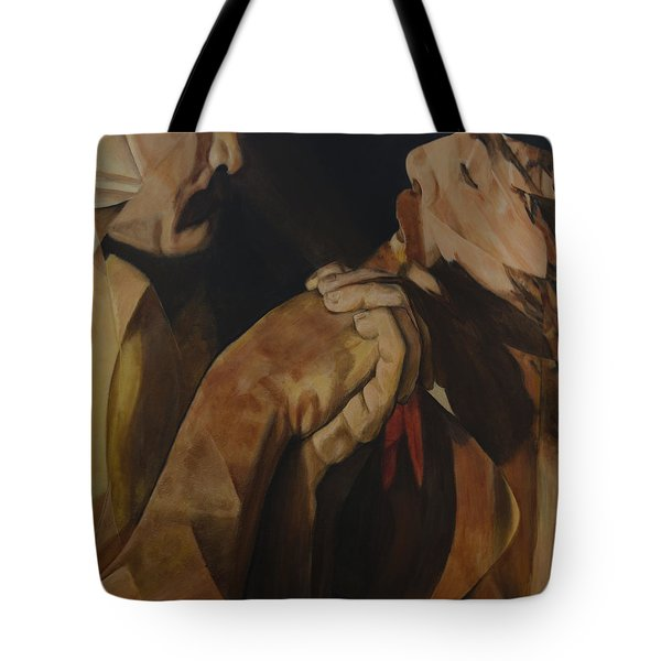 Tote Bag featuring the painting Unredeemed by Ron Richard Baviello