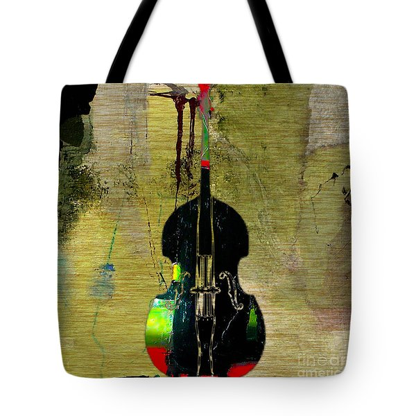 Upright Bass Tote Bag