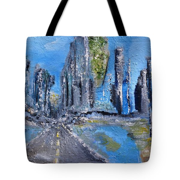 Tote Bag featuring the painting Urban by Evelina Popilian