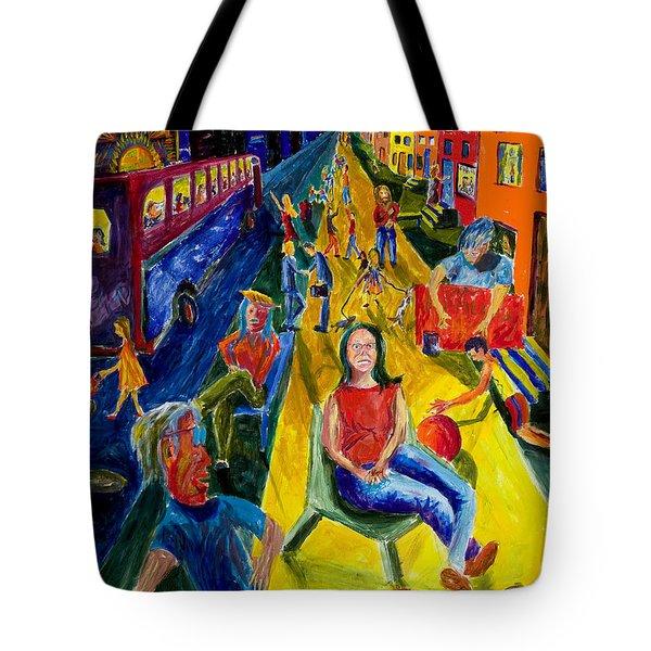 Urban Street People Tote Bag