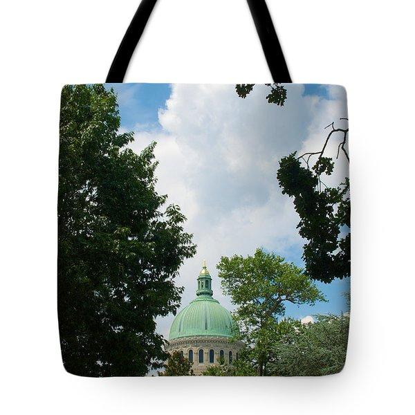 Us Naval Academy Chapel Dome Tote Bag