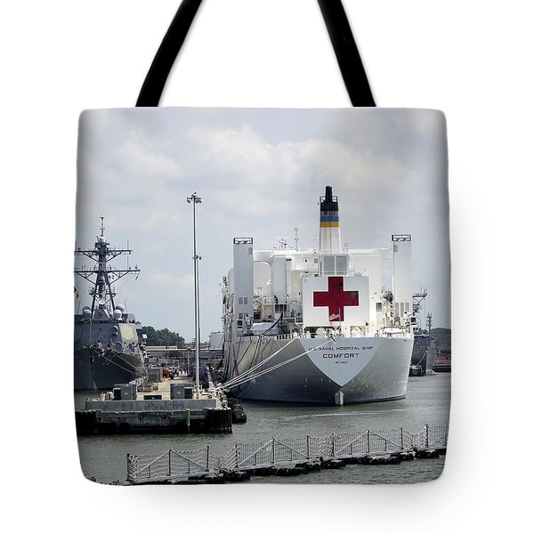Us Naval Hospital Ship Comfort Tote Bag by Richard Rosenshein