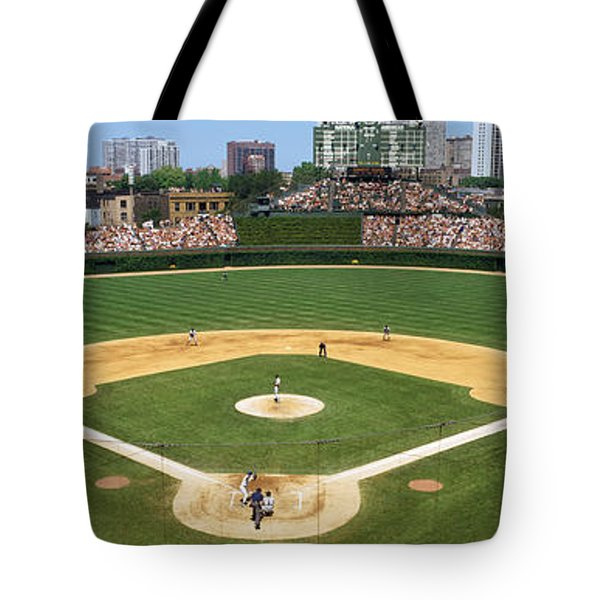 Usa, Illinois, Chicago, Cubs, Baseball Tote Bag