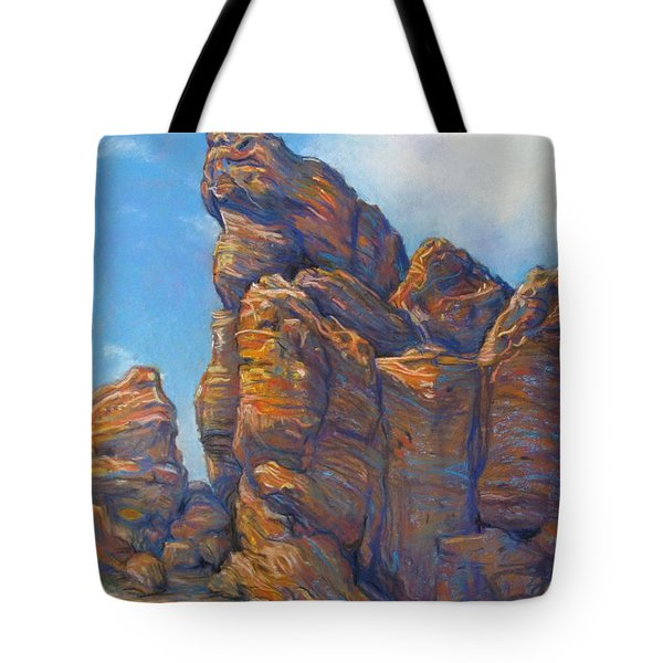 Valley Of Fire Tote Bag by Tanja Ware