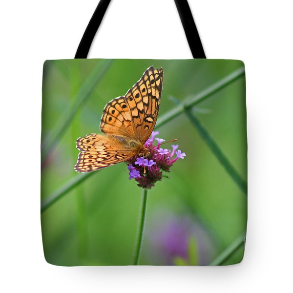 Variegated Fritillary Butterfly In Field Tote Bag